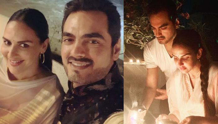 Esha Deol Shares A Selfie With Her Hubby, Bharat Takhtani From Their Favourite Spot Of The House