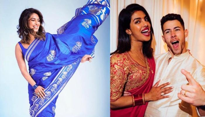 Priyanka Chopra Dons A Saree While Posing With Nick Jonas Proves That She Is A True 'Desi Girl'