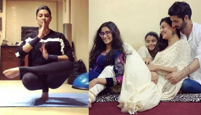 Sushmita Sen Creates Meditation Music With Beau, Rohman Shawl And Daughters, Renee And Alisah