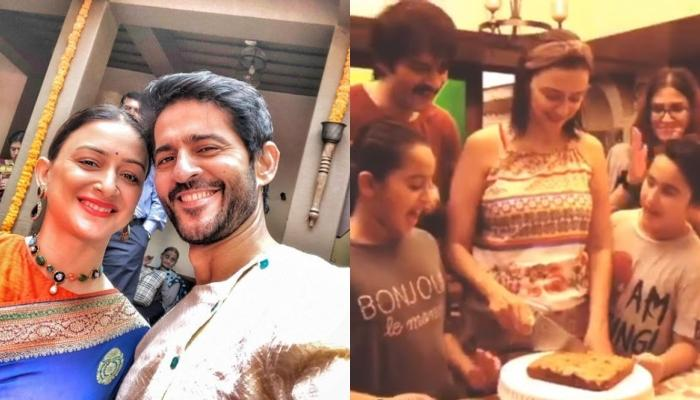 Gauri Pradhan And Hiten Tejwani Celebrate 16 Years Of Marital Bliss, Cut A Homemade Cake With Family