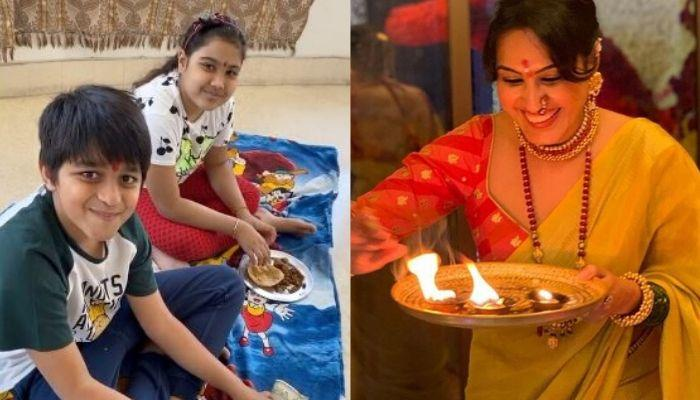 Kamya Panjabi Worships Kids, Aara And Ishan As She Celebrates Her First Durga Ashtami Post-Wedding