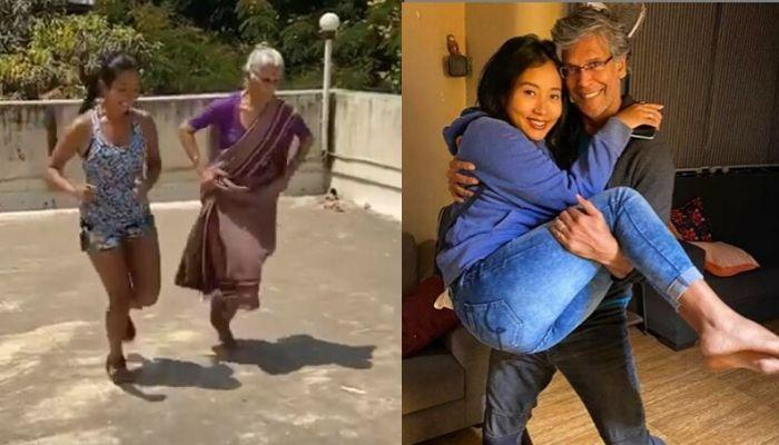 Ankita Konwar's Workout Session With Husband, Milind Soman's 'Aai' Is 'Saasu Maa-Bahu' Goals