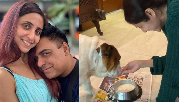 Ram Kapoor Feels Jealous As His Wife, Gautami Kapoor Feeds Their Dog With Her Own Hands