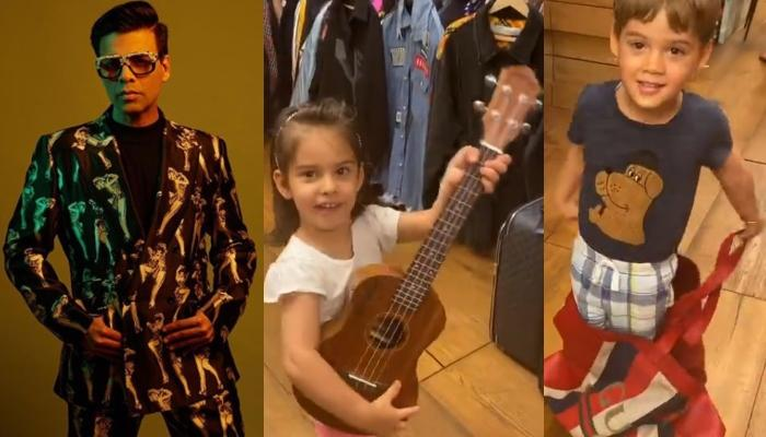 Karan Johar's Kids' Closet Tales, Roohi Plays Guitar, While Yash Hides In Karan's Closet