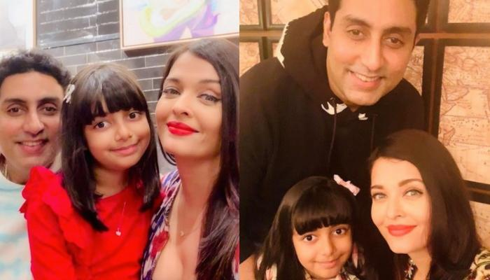 Abhishek Bachchan, Aishwarya Rai And Aaradhya Bachchan Look Like A Vision In White In Family Picture