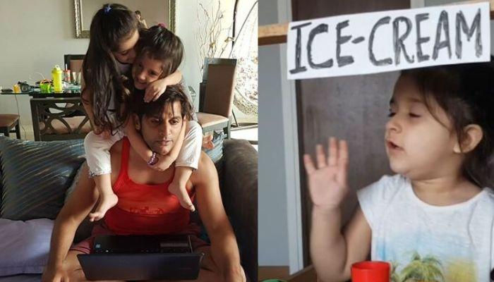 Karanvir Bohra And Daughter, Vienna Become First Customer Of Twin Sister Bella's Ice Cream Parlour