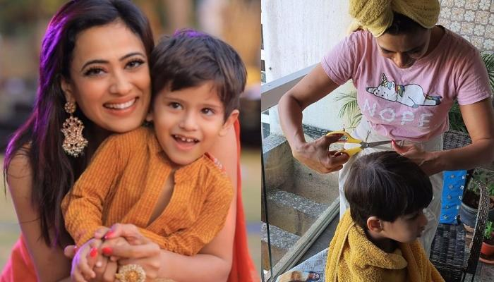 Shweta Tiwari Turns Hair Stylist For Her Son, Reyansh As She Cuts His Hair Amidst The Lockdown