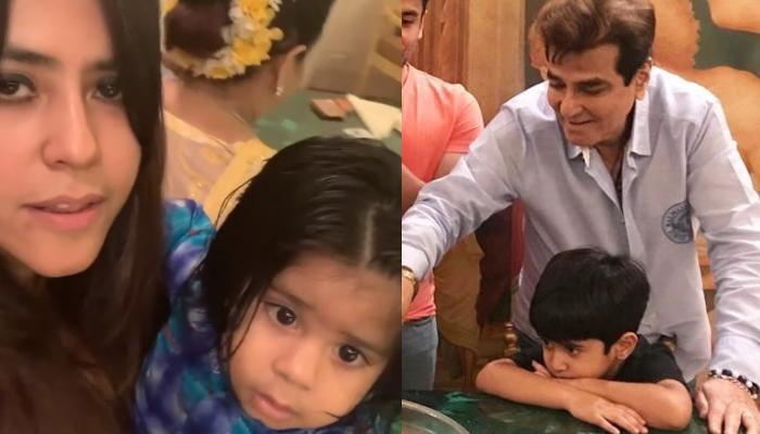 Ekta Kapoor Sings 'Happy Birthday' With Son, Ravie Kapoor For Her Father, Jeetendra's Birthday Bash