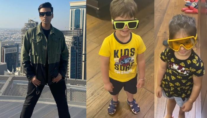 Quarantine Diaries: Karan Johar's Kids Try On His Shades, Call Him Stupid