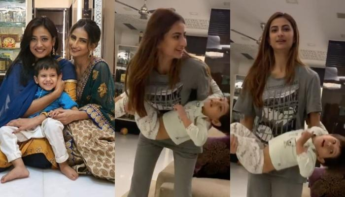 Shweta Tiwari's Daughter Palak Tiwari Works Out Holding Baby Brother Reyansh Kohli, And He Enjoys It