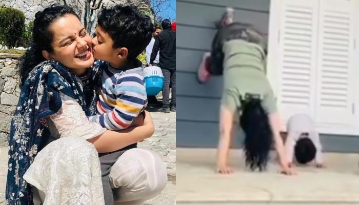 Kangana Ranaut Is Working Out With Her Cute Nephew, Prithvi Raj During Quarantine, Video Inside