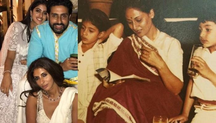 Abhishek Bachchan And Navya Nanda Tease Shweta Bachchan Nanda On Her Birthday Wish For Jaya Bachchan