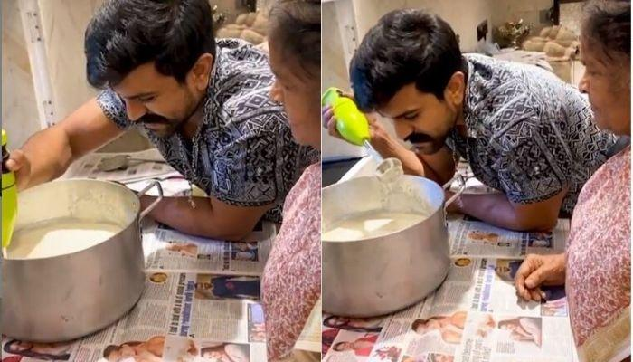 South Star, Ram Charan Learns To Make Fresh Butter From His Grandmother, Shares The 'Grandma Recipe'