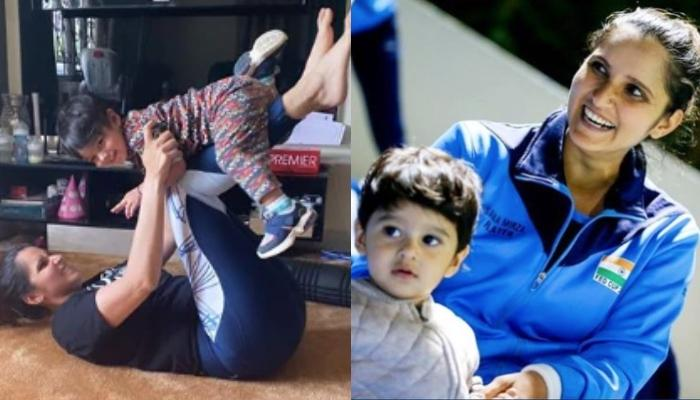 Izhaan Mirza Malik Helps Amma, Sania Mirza With Her Yoga, Leaving Her 'No Choice But To Be Flexible'
