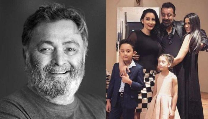 Maanayata Dutt And Trishala Dutt Console Sanjay Dutt As He Misses His 'Elder Brother', Rishi Kapoor
