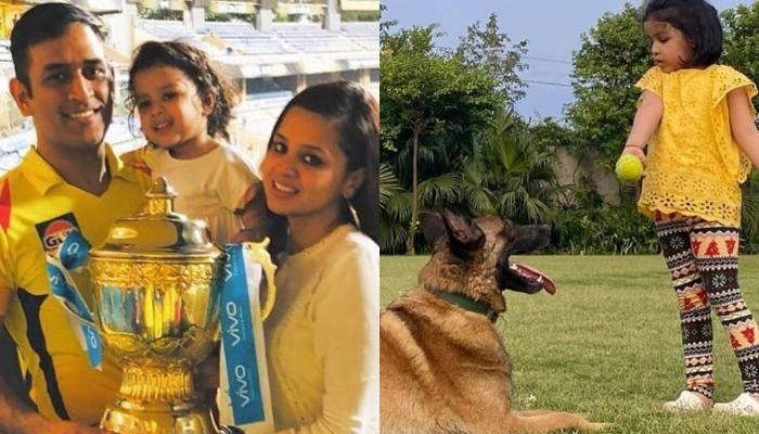 Mahendra Singh Dhoni's Daughter, Ziva Dhoni Plays With Her Pooch In These Super Cute Videos