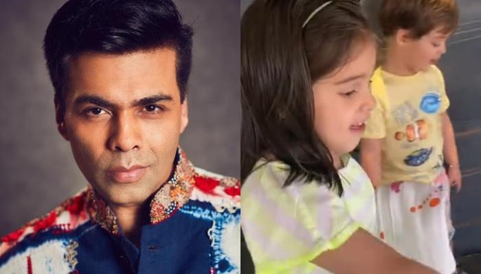 Karan Johar's Kids, Roohi And Yash Bash His Bathroom, According To Yash, 'Dada' Needs Washing