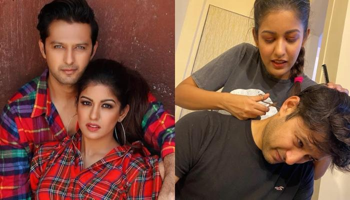 Vatsal Sheth Gets A Haircut From Wife, Ishita Dutta, Calls Her A Pro At Hair Styling