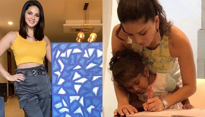 Sunny Leone Reveals That She Got Inspired By Her 4-Year-Old Daughter, Nisha To Paint A Masterpiece