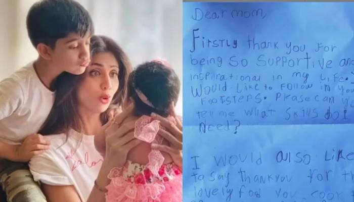 Shilpa Shetty Kundra's Son, Viaan Raj Kundra Pens A Handwritten Note For Her On Mother's Day