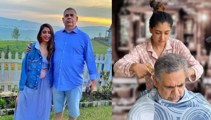 Niti Taylor Ignites Her Inner Hairstylist To Give Father A Perfect Haircut In Lockdown, Shares Video