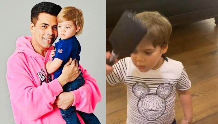 Karan Johar's Son, Yash Johar Reveals The Reason Behind Combing His Hair And It's Adorably Hilarious