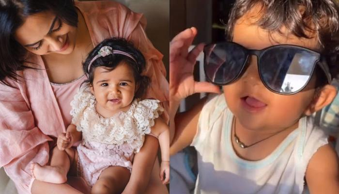 Sameera Reddy's Daughter, Nyra Channels Her Inner Thalaivaa On Her 10-Month Birthday