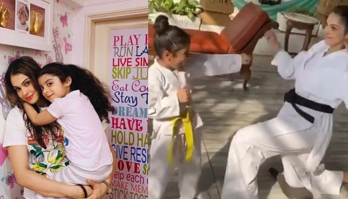 Isha Koppikar's Way Of Teaching Her Daughter, Rianna To Punch 'Corona' Is All About Mother Goals