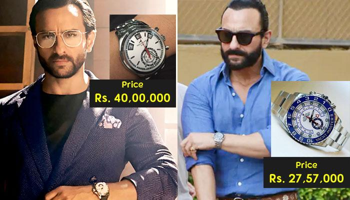Saif Ali Khan's Collection Of Ridiculously Expensive Watches; Worth Rs 3.3 Crore