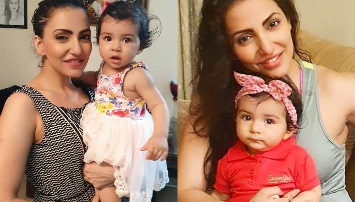 Navina Bole's Daughter, Kimaayra Wore Her Mommy's Childhood Dress On Her First Birthday