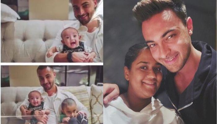 Aayush Sharma Tries To Make His Baby, Ayat Smile With A Squeaky Voice, Shares Family Moment