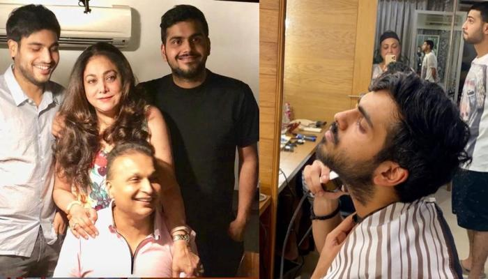 Tina Ambani Posts Pictures Of Anil, Anmol, Anshul's Grooming Session, Emphasise On Family Importance