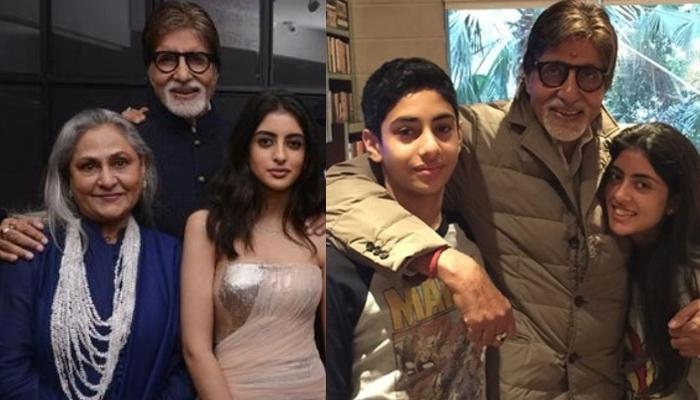 When Amitabh And Jaya Bachchan Posed For A Perfect Family Portrait With Grandkids, Navya And Agastya