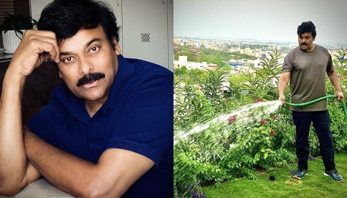 Chiranjeevi Recreates An Old Picture Cooking With Wife From Vacation Days To This 'Jail' Lockdown