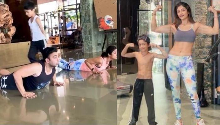 Shilpa Shetty's Son, Viaan Raj Kundra Performs The Perfect Gymnastic Back Flip, Making Her Proud
