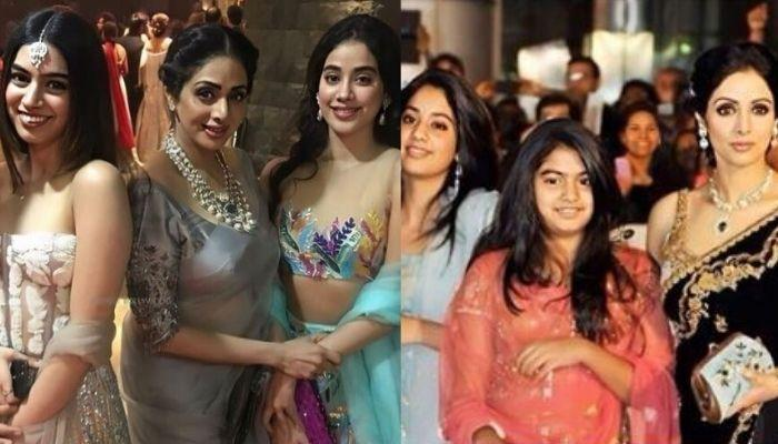 Janhvi Twins With Sister, Khushi In A Saree, Holding 'Amma' Sridevi's Hand In This Childhood Picture