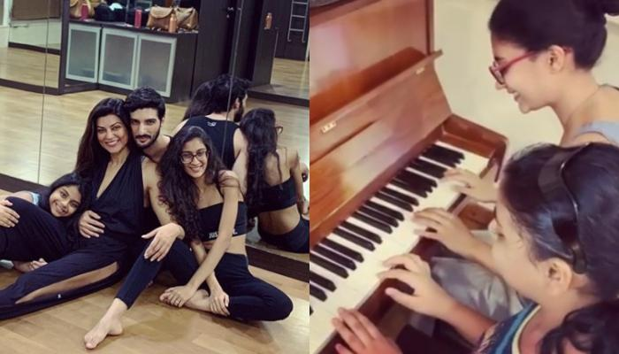 Sushmita Sen Shares Glimpse Of Her 'Love Story', Renee And Alisah Playing Piano And Making Her Proud
