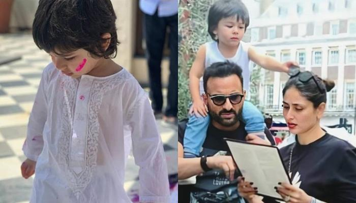 Taimur Ali Khan Is Busy In His 'Own World' While Mommy Kareena And 'Abba' Saif  Pose In An Old Photo