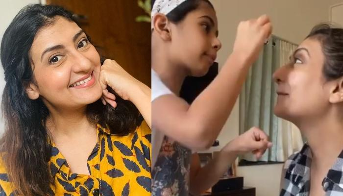 Juhi Parmar's 7-Year-Old Daughter, Samairra Turns Makeup Artist And Gives Her Mommy A Makeover
