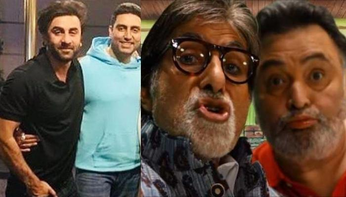 When Ranbir Kapoor And Abhishek Bachchan Recreated Rishi Kapoor And Amitabh Bachchan's Pout Picture