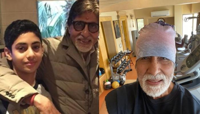 Amitabh Bachchan's Goofy Mirror Workout Selfie With Grandson Agastya Proves He's The Coolest Grandpa