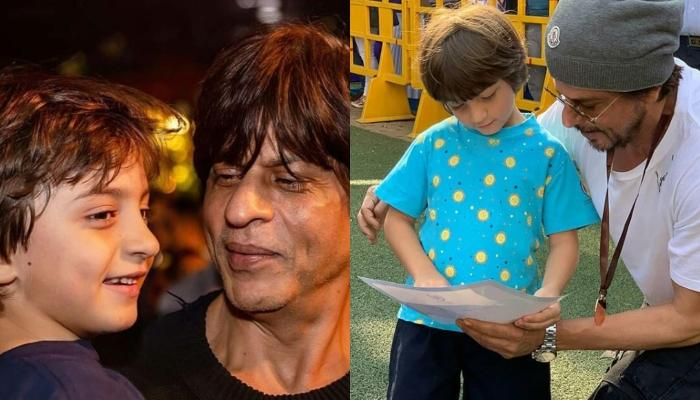 AbRam Khan Is Busy Playing While 'Dadda', Shah Rukh Khan Smiles Lovingly In An Old  BTS Picture