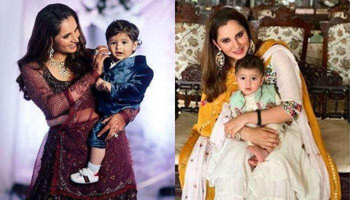 Izhaan Mirza Malik Twins With His 'Amma', Sania Mirza In White To Celebrate Eid With His Family