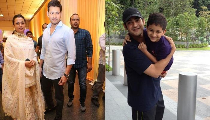 Namrata Shirodkar Shares A Quirky Photo Of Mahesh Babu Busy In An 'After Swimming' Chat With Son