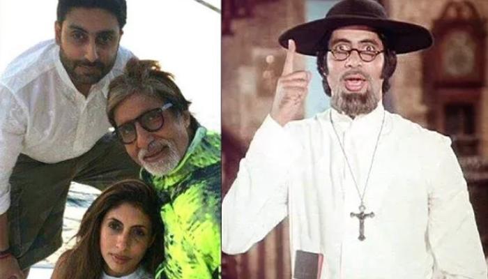 Amitabh Bachchan's Endearing Photo With Shweta, Abhishek Bachchan From Sets Of 'Amar Akbar Anthony'