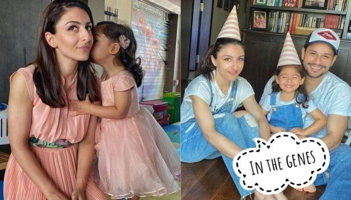 Soha Ali Khan Shares Daughter, Inaaya Naumi Kemmu's Painting Which Matches With Her Tights