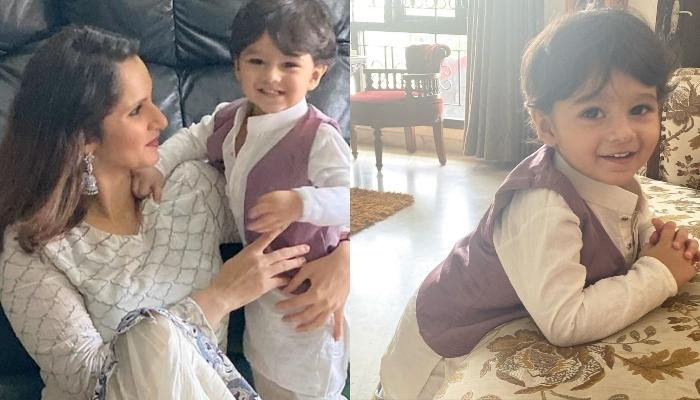 Sania Mirza's Son, Izhaan Mirza Malik Enjoys A Fun Time With His Grandmother