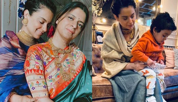 Kangana Ranaut Welcomes Her Nephew, Prithvi To His New Home With A 'Puja' And His Favourite 'Halwa'