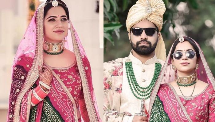 This Sabyasachi Bride Wore A Gorgeous Rani Pink Lehenga With A Unique Rajasthani Style Dupatta