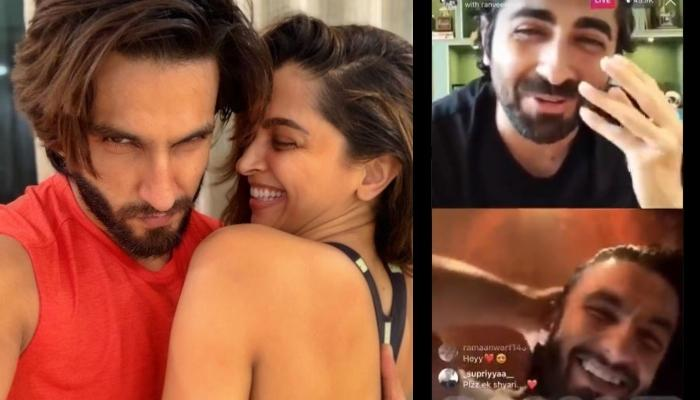 Deepika Padukone Scolds Hubby, Ranveer Singh, He Leaves Live-Chat With Ayushmann Khurrana In Seconds